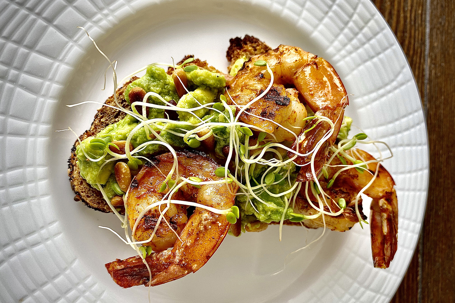 Avocado Shrimp Toast Recipe from Nautilus Cabana Club